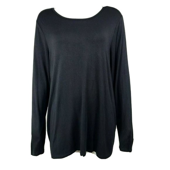 TORRID Super Soft Knits Solid All Black Top Size 2